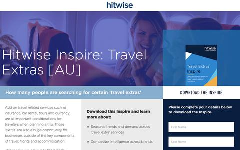 Screenshot of Landing Page connexity.com - Hitwise Inspire | Travel Extras | Australia - captured Sept. 19, 2018