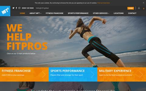 Screenshot of Home Page mft.global - MFT Global specialists in group exercise - captured March 15, 2016