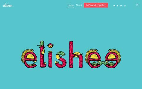 Screenshot of Home Page elishee.com - Elishee – Designer and Illustrator - captured Nov. 4, 2018