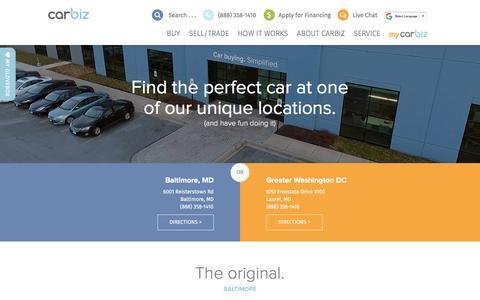 Screenshot of Locations Page carbiz.com - Locations | Carbiz - captured July 16, 2018