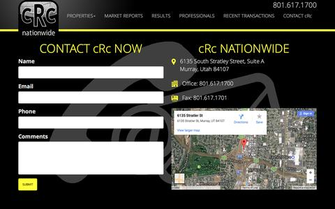 Screenshot of Contact Page crcnationwide.com - Contact us - captured May 24, 2017