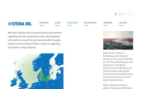 Screenshot of Locations Page stenaoil.com - Locations - Stena Oil - captured Nov. 6, 2017