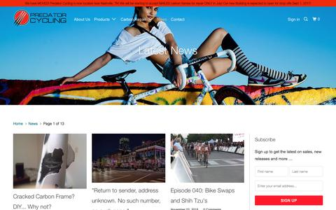 Screenshot of Press Page predatorcycling.com - News - Predator Cycling - captured Aug. 21, 2017