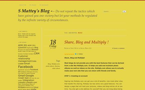 Screenshot of Blog wordpress.com - Blog | S Mattey's Blog - - captured Sept. 12, 2014