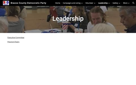 Screenshot of Team Page google.com - Brazos County Democratic Party - Leadership - captured Oct. 31, 2018