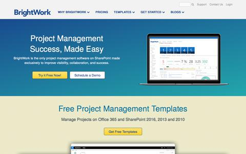 Screenshot of Home Page brightwork.com - Project and Portfolio Management on SharePoint with BrightWork - captured June 2, 2017