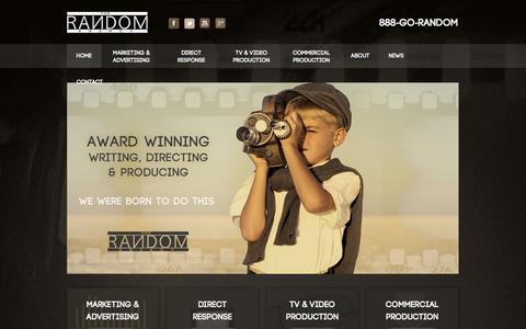 Screenshot of Home Page gorandom.com - Advertising Agency - Direct Response Advertising Agency - captured Oct. 6, 2014