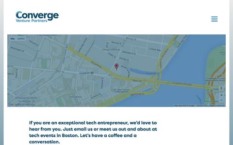 Screenshot of Contact Page convergevp.com - Connect     Converge - captured Nov. 2, 2015