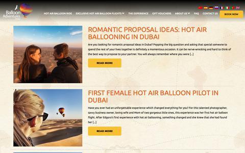 Screenshot of Blog ballooning.ae - Blog – Hot Air Balloon Rides Dubai - captured Oct. 5, 2018