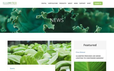 Screenshot of Press Page illumitex.com - News Archive - Illumitex - captured Oct. 19, 2018