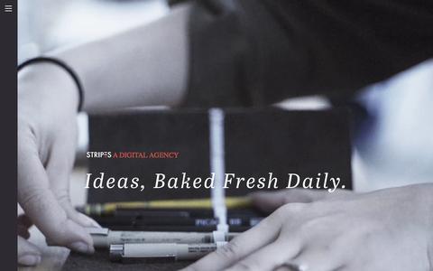 Screenshot of Home Page stripesagency.com - Stripes.  A digital agency. - captured Dec. 11, 2015