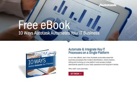 Screenshot of Landing Page autotask.com - 10 Ways - captured Oct. 27, 2014