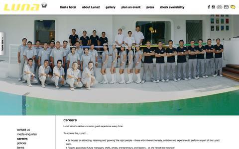Screenshot of Jobs Page luna2.com - Luna2, Bali careers | Luna2 - captured Dec. 14, 2015
