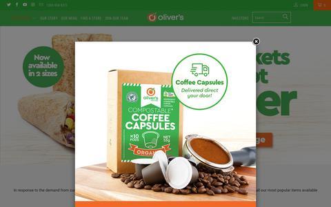 Screenshot of Home Page oliversrealfood.com.au - Oliver's Real Food - captured Sept. 20, 2018