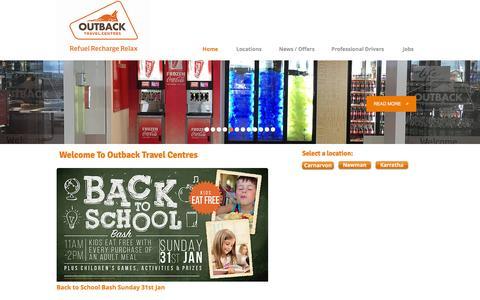 Screenshot of Home Page outbacktc.com.au - Outback Travel Centres - captured Feb. 17, 2016