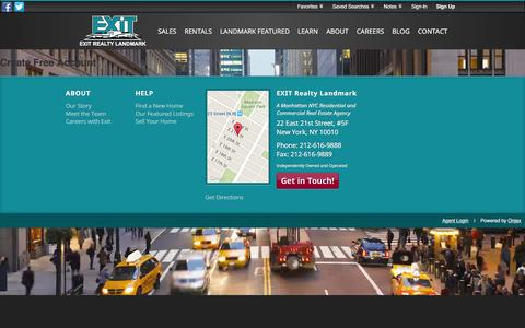 Screenshot of Signup Page Login Page exitrealtylandmark.com - Signup - captured Dec. 6, 2015