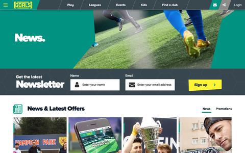 Screenshot of Press Page goalsfootball.co.uk - News | Goals - captured July 1, 2017