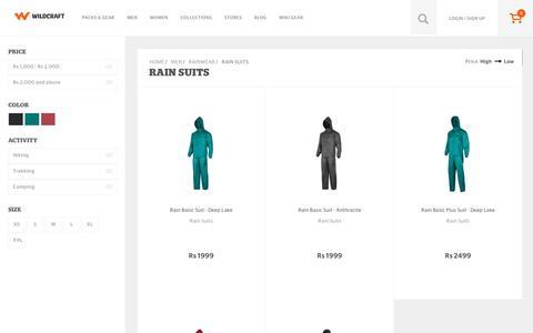 Screenshot of wildcraft.in - Buy Wildcraft Mens Outdoor Waterproof Rain Suits Online - captured March 19, 2016