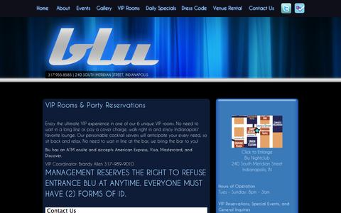 Screenshot of Contact Page bluindy.com - Contact Us | Blu Night Club - captured Oct. 5, 2014