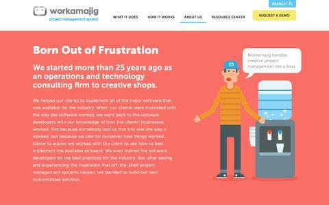 Screenshot of About Page workamajig.com - Workamajig™ Platinum   About Us - captured Jan. 11, 2016