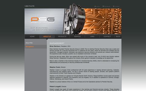 Screenshot of Team Page psgcal.com - Premier Security Group, Inc. - captured Aug. 16, 2017