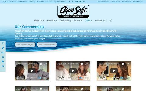 Screenshot of Press Page aquasoftpalmbeach.com - Media | Aqua Soft Water Systems - captured Oct. 8, 2017
