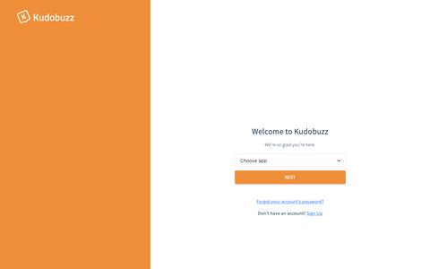 Screenshot of Login Page kudobuzz.com - Kudobuzz - captured Feb. 21, 2019