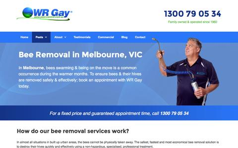 Bee Removal in Melbourne, VIC - Call The Experts! | WR Gay
