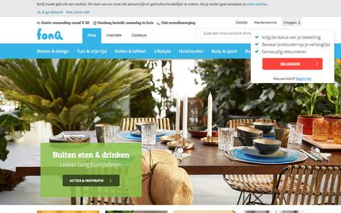 Screenshot of Home Page fonq.nl - fonQ.nl: Wonen, koken & lifestyle - captured June 24, 2017