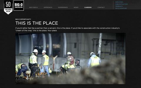 Screenshot of Jobs Page big-d.com - Big-D Opportunity | Big-D Construction - captured Oct. 5, 2018
