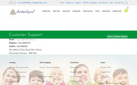 Screenshot of Support Page ankidyne.com - Outdoor Playground Equipment | Indoor Playground Equipment | Multiplay - captured July 28, 2018