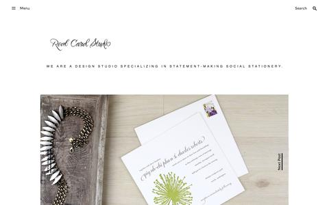 Screenshot of Home Page exceptionallyinviting.blogspot.com - Real Card Studio - captured Jan. 14, 2017