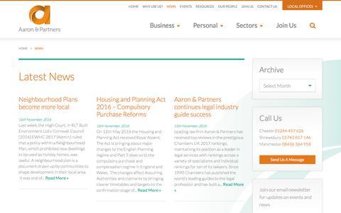 Screenshot of Press Page aaronandpartners.com - News - Aaron & Partners - captured Nov. 20, 2016