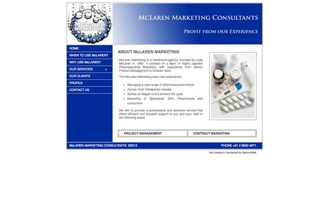 Screenshot of Home Page mclarenmarketing.com.au - McLaren Marketing | Healthcare Agency | Pharmaceutical Marketing | Product Management | Contract Marketing - captured Oct. 6, 2014