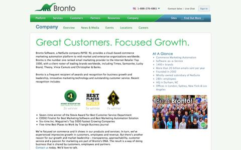 Screenshot of Team Page bronto.com - Company Overview | Bronto Software - captured Jan. 29, 2016