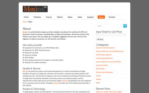 Screenshot of About Page moxisys.com - Moxisys|Care for your business! - captured Oct. 4, 2014