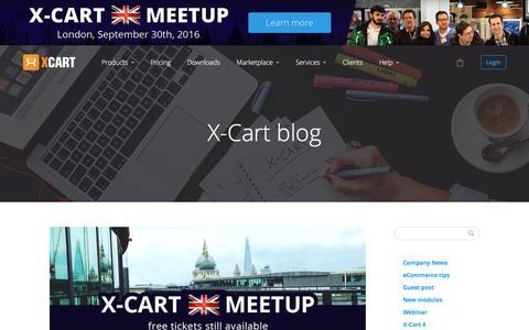 Screenshot of Blog x-cart.com - X-Cart: PHP shopping cart software for e-commerce web-sites. - captured Aug. 23, 2016