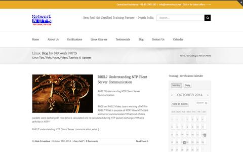 Screenshot of Blog networknuts-web.biz - Linux Tips, Tricks, Hacks, Videos, Updates & more - captured Oct. 29, 2014