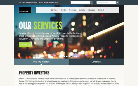 Screenshot of Home Page newsec.com - Newsec - The Full Service Property House - Newsec - captured Nov. 7, 2017