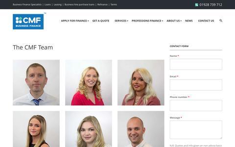 Screenshot of Team Page cmf-ltd.co.uk - The CMF Team – Corporate and Medical Finance - captured Nov. 11, 2016