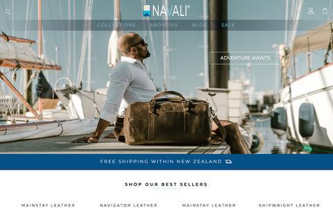 Screenshot of Home Page navali.co.nz - Vintage Leather Bags and Wallets for Men – NAVALI - captured Sept. 21, 2018