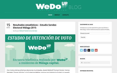 Screenshot of Blog wedoup.com - Blog WeDoUP | Contact Center - captured Sept. 6, 2015