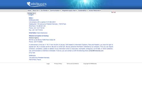 Screenshot of Terms Page mwbrands.com - Legal - MWBrands - European Leader of Seafood Products - captured Sept. 30, 2014