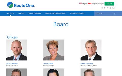 Screenshot of Team Page routeone.com - Board | RouteOne - captured Jan. 26, 2018
