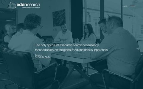 Screenshot of Home Page edensearch.co.uk - Executive Search Consultancy | Director & Board Level Recruitment | Agribusiness Food & Drink - captured Aug. 2, 2019