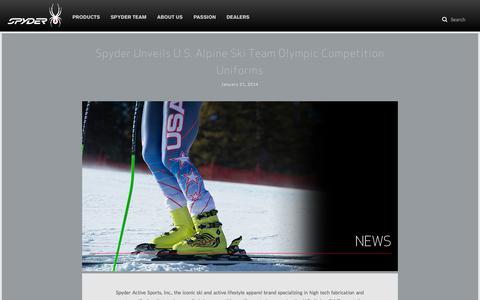 Screenshot of Press Page spyder.com - Spyder | News - captured Oct. 31, 2014
