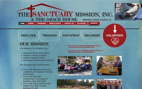 Screenshot of Home Page sanctuarymission.org - Sanctuary Mission, Inc. - captured Nov. 18, 2016