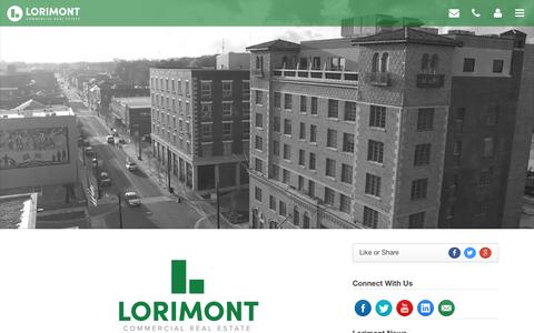 Screenshot of Home Page lorimont.com - Lorimont Commercial Real Estate - Cape Girardeau, Jackson, and Southeast Missouri Area Commercial Real Estate - captured Sept. 30, 2018