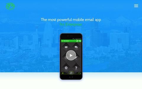 Screenshot of Home Page r-evolutionapp.com - r-evolution - Mobile email for enterprise - captured Feb. 17, 2016