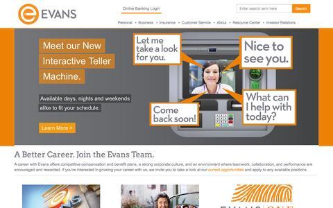 Screenshot of Home Page evansbank.com - Evans Bank Đ Western New York Banking - captured Dec. 11, 2015